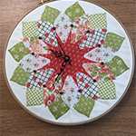Patchwork Clock - with Gill