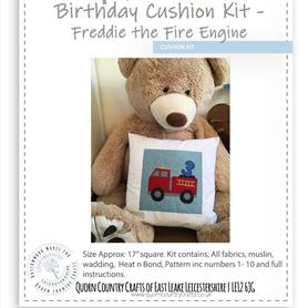 Birthday Cushion Kit - Freddie the Fire Engine