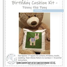 Birthday Cushion Kit - Penny the Pony