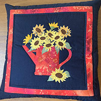 Sunny Floral Applique - with Gill