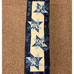 Floating Stars Table Runner - with Audrey