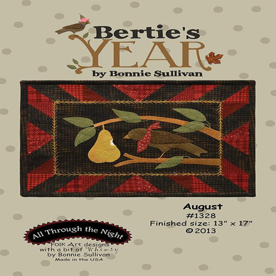 Bertie's Year - August Pattern