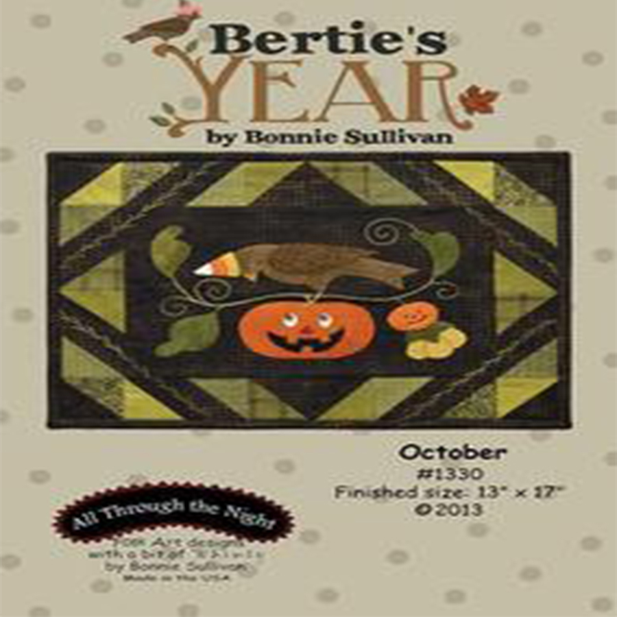 Bertie's Year - October Pattern