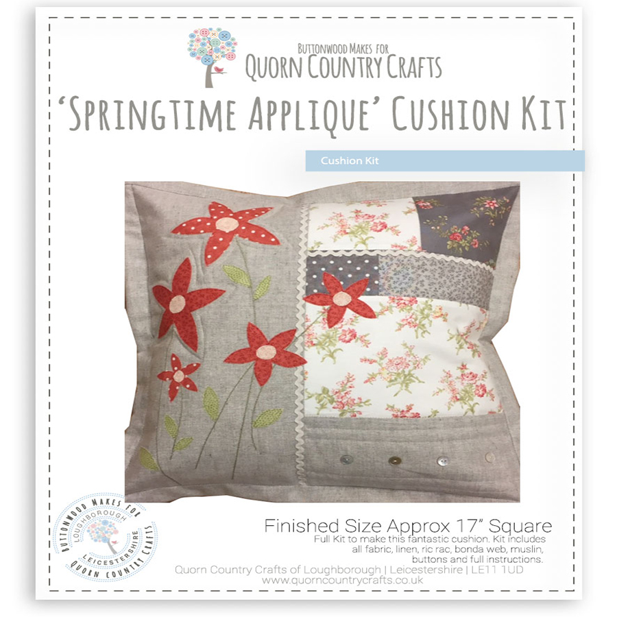 Spring Time Applique Cushion kit
