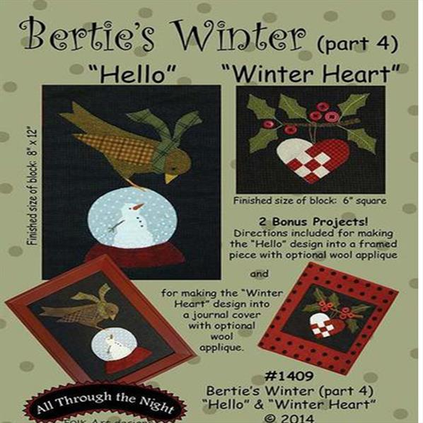 Bertie's Winter Part 4 - Hello and Winter Heart