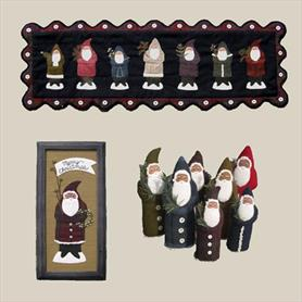 All Through The Night - Seven Santas Pattern