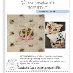 Easy Quilted Linen Cushion Kit - Bombini OUT OF STOCK MORE ARRIVING SOON