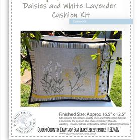 Daisies and White Lavender Cushion Kit