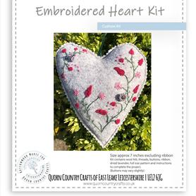 Embroidered Heart Cushion Kit