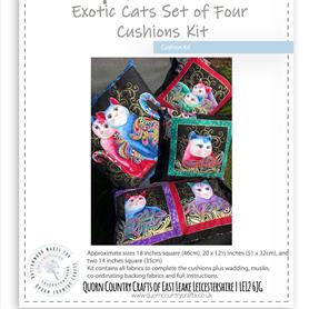 Exotic Cats Set of Four Cushions Kit