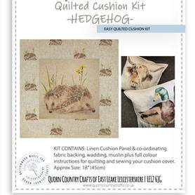 Easy Quilted Linen Cushion Kit - Hedgehog OUT OF STOCK MORE COMING SOON