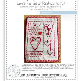 Love to Sew Redwork Sewing Roll Kit
