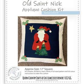 Old Saint Nick - Appliqued Cushion Kit
