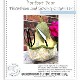 Perfect Pear - Pincushion and Sewing Organiser Kit - OUT OF STOCK