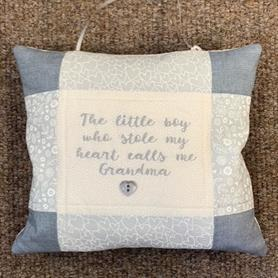 Embroidered Cushion - The little boy who stole my heart....
