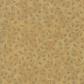 Moda Poinsettias and Pine - 33515-18M Gold
