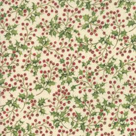 Moda Poinsettias and Pine - 33514-11M Cream