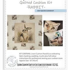 Easy Quilted Linen Cushion Kit - Rabbit