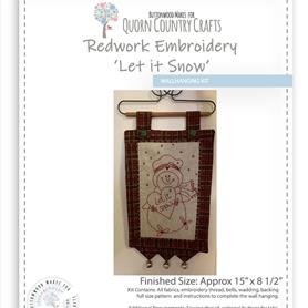Redwork Embroidery Wall Hanging