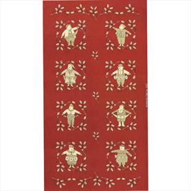 Moda Snowbound Panel -Red