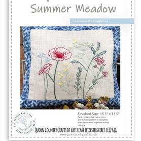 Summer Meadow Embroidered Cushion Pattern