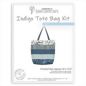 Indigo Striped Tote Bag Kit