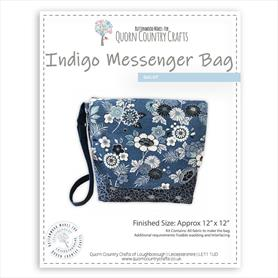 Indigo Messenger Bag