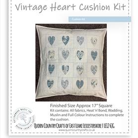 Vintage Heart Cushion Kit