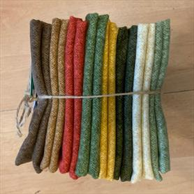 Winter Wool Eight Fat Quarters Bundle - Autumn Leaves