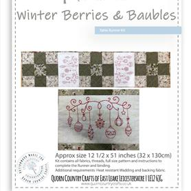 Winter Berries and Baubles Table Runner Kit